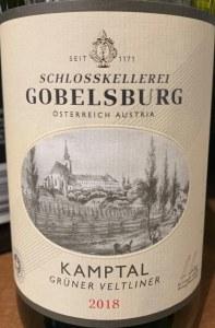Schlosskellerei Gobelsburg Gruner Veltliner Kamptal 2018 (750ml)