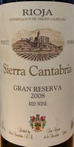 Bodegas Sierra Cantabria Gran Reserva Rioja 2008 (750ML)