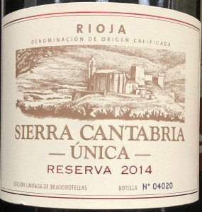 Sierra Cantabria Reserva Unica Rioja 2015 (750ml)