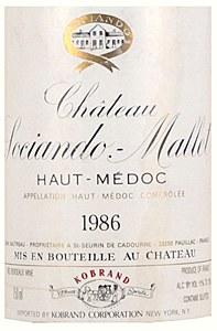 Chateau Sociando Mallet Medoc 1986 (750ML)
