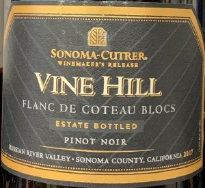 Sonoma-Cutrer Pinot Noir Vine Hill Russian River Valley 2016 (750ml)