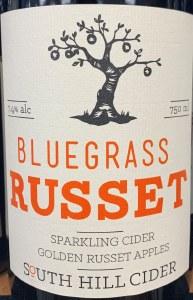 South Hill Bluegrass Russet Sparkling Cider 2017 (750ml)