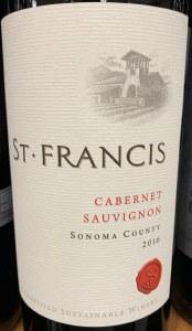St. Francis Cabernet Sauvignon Sonoma County 2016 (750ml)