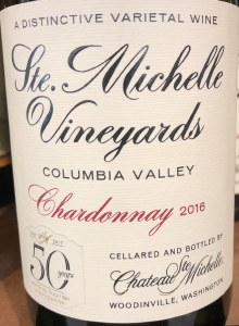 Chateau Ste. Michelle Chardonnay Columbia Valley 2016 (750ML)