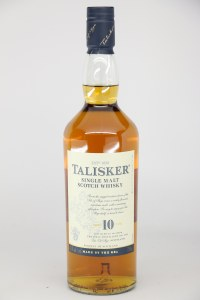 Talisker 10 Year Old Single Malt Scotch Whiskey, Isle of Skye (750ML)
