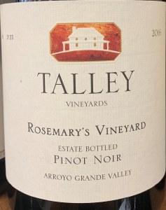 Talley Vineyards Rosemary's Vineyard Pinot Noir 2016 (750ml)
