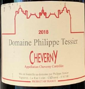 Domaine Philippe Tessier Cheverny Rouge 2019 (750ML)