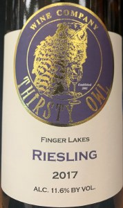 Thirsty Owl Wine Company Riesling Finger Lakes 2017 (750)