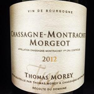 Thomas Morey Chassagne-Montrachet 1er Cru 'Morgeot' 2012 - 91pts Vinous (750ml)