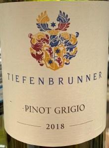 Tiefenbrunner Alto Adige Pinot Grigio 2018 (750ml)