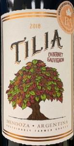 Tilia Cabernet Sauvignon Mendoza 2018 (750ML)