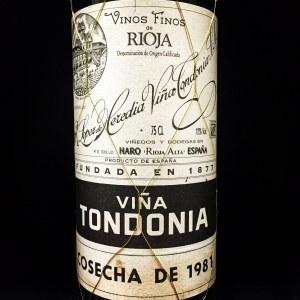 Lopez de Heredia Vina Tondonia Gran Reserva Rioja 1981 (750ml)