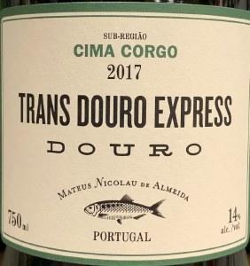 Mateus Nicolau de Almeida Trans Douro Express Cima Corgo 2018 (750ml)