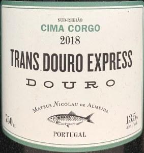 Mateus Nicolau de Almeida Trans Douro Express Cima Corgo 2019 (750ml)