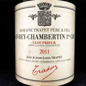 Trapet Gevrey-Chambertin 1er Cru 'Clos Prieur' 2011 (Biodynamic) (750ml)