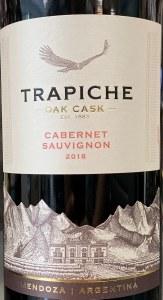 Trapiche 'Oak Cask' Cabernet Sauvignon Mendoza 2018 (750ML)