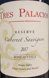 Tres Palacios Reserve Cabernet Sauvignon 2017 (750ml)