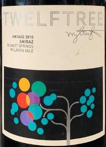 Twelftree 'Blewitt Springs' Shiraz McLaren Vale 2010 - 93pts Vinous (750ML)
