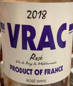 VRAC Rose Vin de France 2020 (750ML)