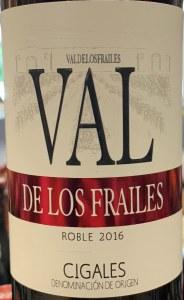 Bodegas Valdelosfrailes Roble Cigales 2016 (750ml)