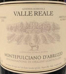 Valle Reale Montepulciano d'Abruzzo 2018 (750ml)