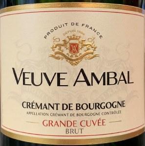 Veuve Ambal Brut Cremant de Bourgogne Grande Cuvee NV (750ml)