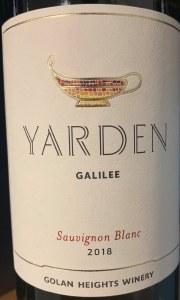 Yarden Sauvignon Blanc Galilee 2018 (750ml)