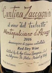 Cantina Zaccagnini Montepulciano d'Abruzzo Riserva 2017 (750ml)