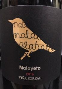 Vina Zorzal Garnacha Malayeto Navarra 2016 (750ml)