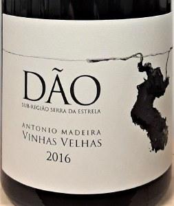 Antonio Madeira Dao Tinto Vinhas Vellas 2016 (750ml)