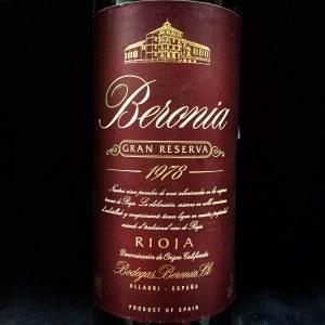 Bodegas Beronia Gran Reserva Rioja 1978 (750ML)