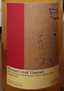 Bloomer Creek Pet Nat Gruner Veltliner/Riesling 2020 (750ml)