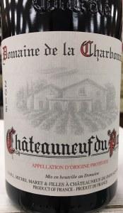 Domaine de la Charbonniere Chateauneuf du Pape 2017 (750ml)
