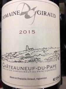 Domaine Giraud Chateauneuf-du-Pape Tradition 2015 WA 90-93 WS 93