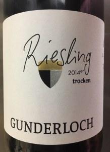 Gunderloch Estate Dry Riesling 2014 (750ml)