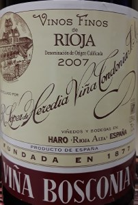 Lopez de Heredia Vina Bosconia Reserva Rioja 2008 (750ml)