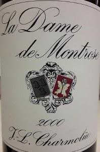 Chateau La Dame de Montrose Saint-Estephe 2000 (750ML)