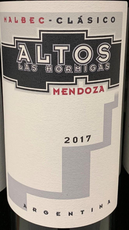 Altos Las Hormigas Clasico Malbec Mendoza 2018 750ml
