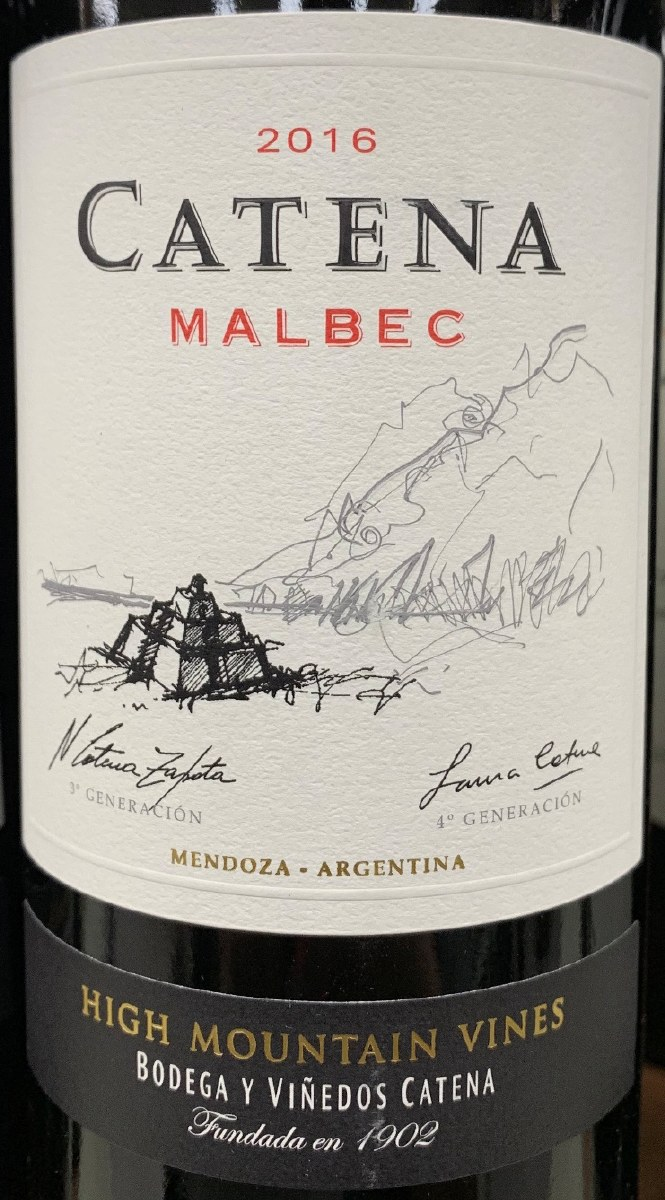 Catena Zapata Malbec High Mountain Vines 2017 750ml Pj