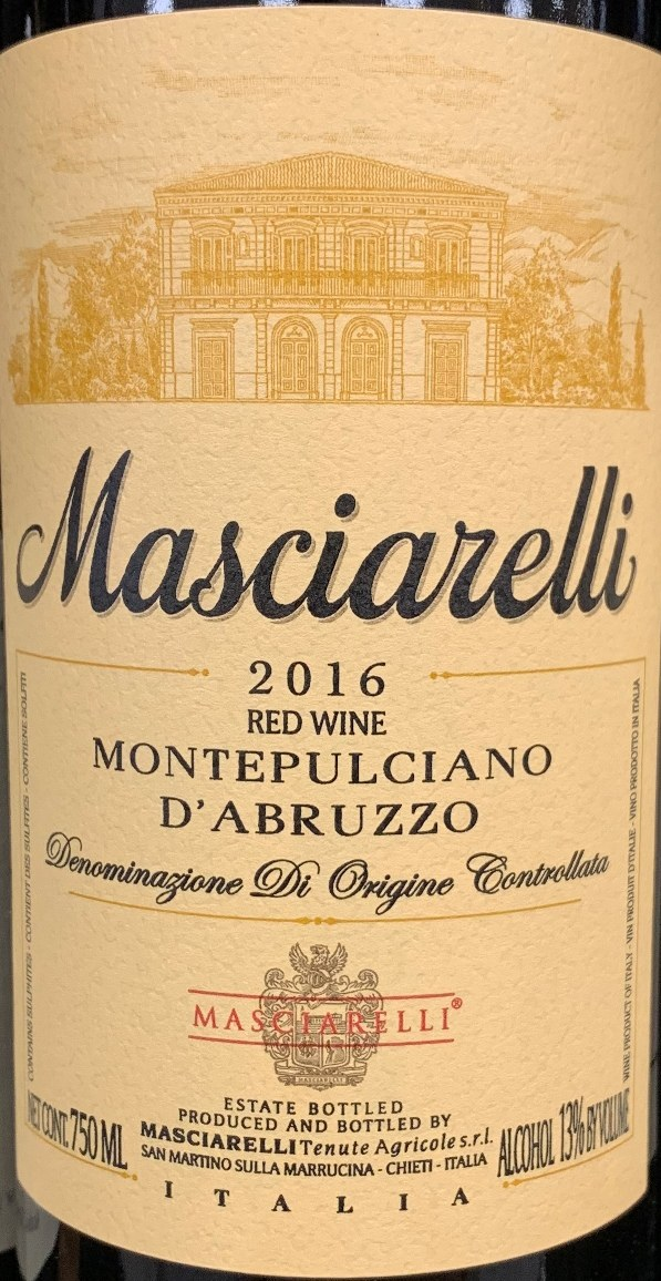 Masciarelli Montepulciano d'Abruzzo 2016(750ML) - PJ Wine, Inc.