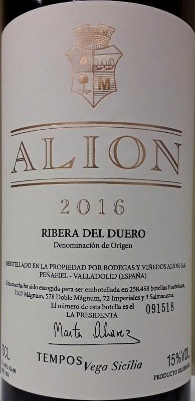 Alion Ribera Del Duero 2016 750ml Pj Wine Inc