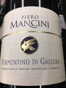 Piero Mancini Vermentino di Gallura 2018 (750ml)