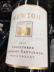 Newton 'Unfiltered' Cabernet Sauvignon Napa Valley 2014 (750ml)