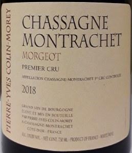 Pierre-Yves Colin-Morey Chassagne-Montrachet 1er Cru Morgeot 2018 (750ml)