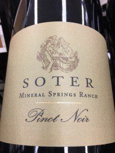 Soter Vineyards Pinot Noir Mineral Springs Ranch 2015 (750ml) James Suckling 98pts