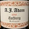 A.J. Adam Dhron Hofberg Riesling Kabinett 2019 (750ML)