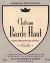 Chateau Barde Haut Saint Emilion 2018 (Pre-Arrival)