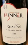 Domaine Binner Riesling Le Champ des Alouettes 2016 (750ML)