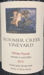Bloomer Creek White Horse Red Blend 2015 (750ml)