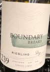 Boundary Breaks 'No. 239' Dry Riesling Finger Lakes 2018 (750ml)